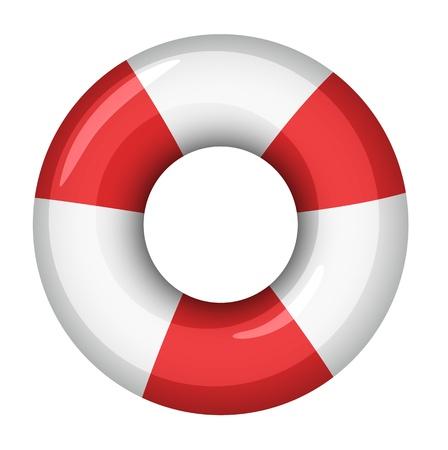 aro salvavidas: Ilustraci�n de un protector de la vida Vectores