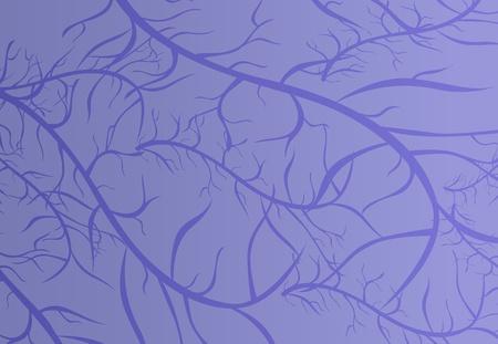 capillaries: Illustration of purple vein texture Illustration