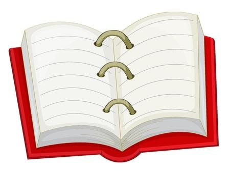open notebook: Illustration of an open notebook icon Illustration