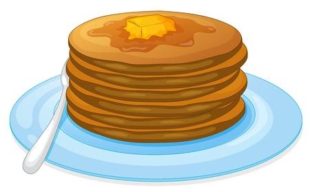 palatschinken: Illustration von Pfannkuchen und Sirup