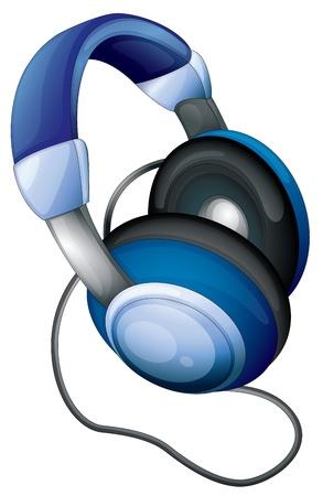 Illustration of headphones on white Vector
