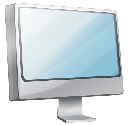Illustration of computer monitor desktop Vector