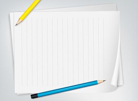 noone: Illustration of paper and pencils Illustration