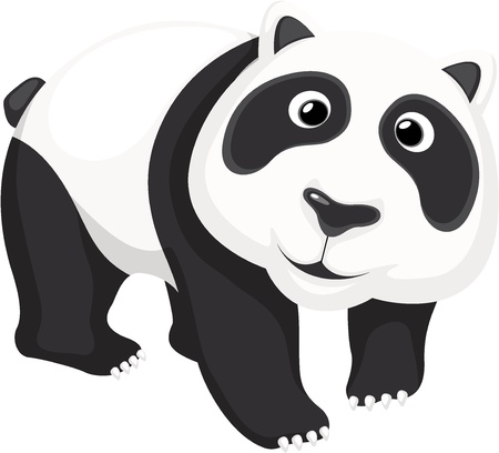 Illustration of a cute panda bear Vector