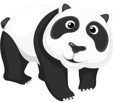 endangered: Illustration of a cute panda bear
