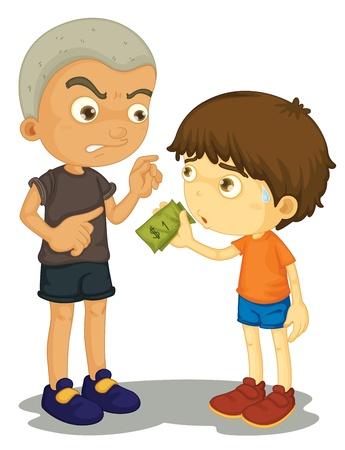bully: Ilustraci�n de un mat�n de tomar dinero