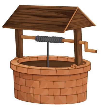 deseos: Ilustraci�n de un pozo aislado Vectores