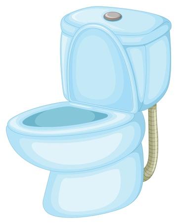 Illustratie van een op zichzelf staand wc Vector Illustratie