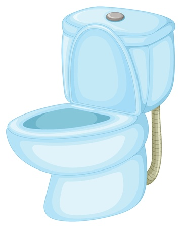 ba�o blanco: Ilustraci�n de un inodoro aislado