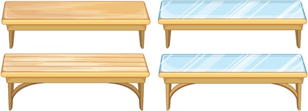 Illustration of a set of tables Vector