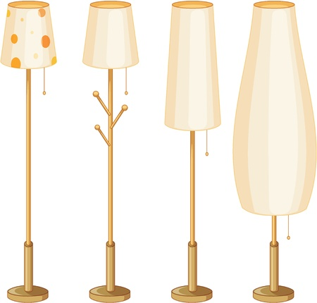 Illustration of a set of lamps Stock Vector - 13524507