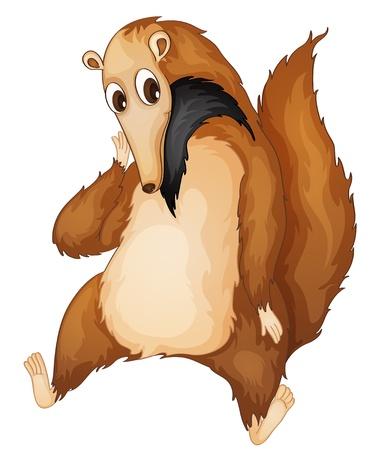 anteater: Illustration of a comical anteater Illustration