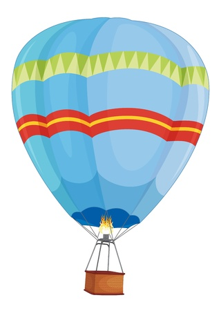 empty basket: Illustration of a hot air balloon Illustration