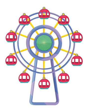 fair play: Illustration of a ferris wheel