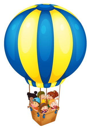 float fun: Illustration of a hot air balloon Illustration