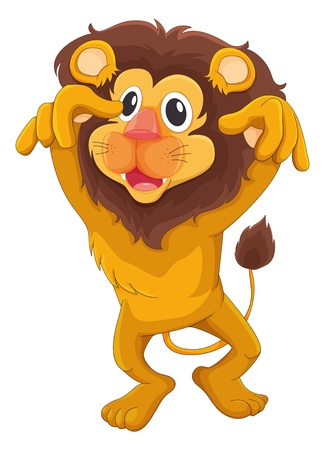 Illustration of a comical lion Vector