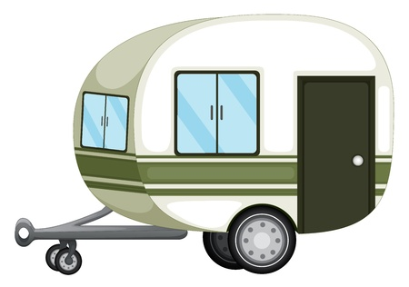 caravan: Illustration of a caravan on white