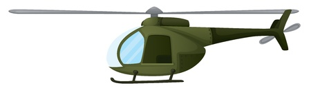 force of the wind: Illustration of an isolated chopper