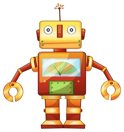 Ilustración de un robot retro