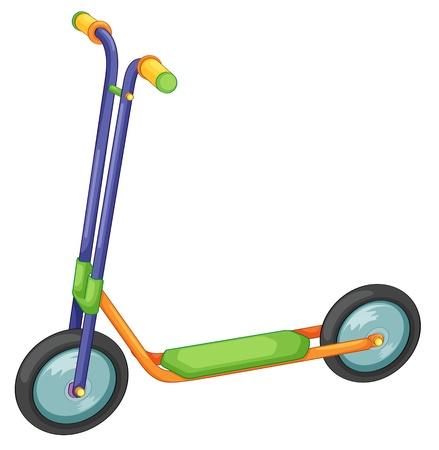 vespa: Ilustración de la bicicleta