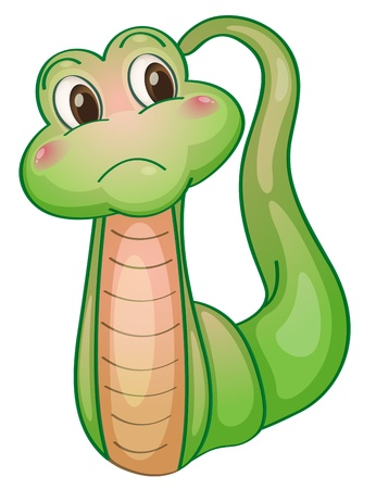 Illustration of a comical snake