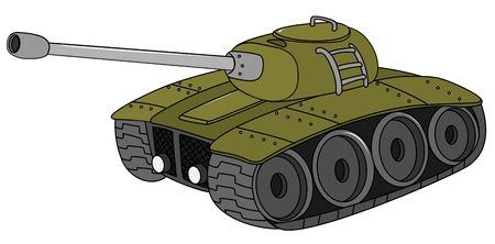 Illustration of a military tank Vector