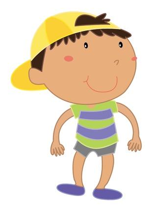 animated boy: Cartoon of a cute little kid