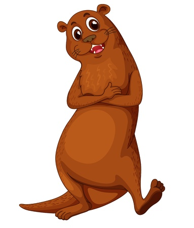 otter: Illustration of a comical otter Illustration