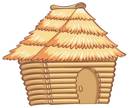 bungalows: illustration of a light colorded hut Illustration