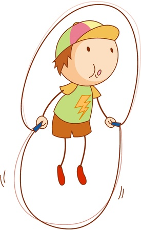 Cartoon of an active kid Vector