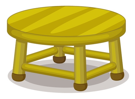 Illustration of a miniature stool