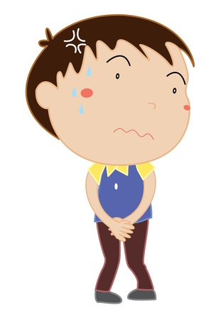 Simple cartoon of a cute boy Stock Vector - 13593684