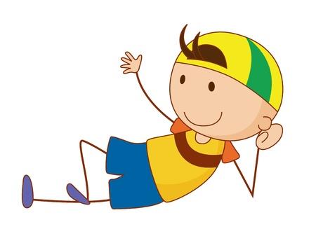 Simple cartoon of a cute boy Stock Vector - 13593666