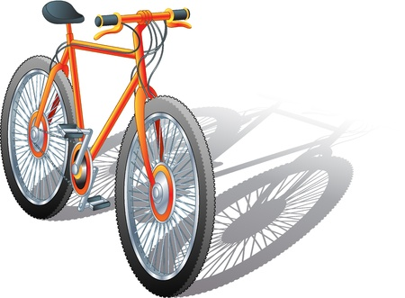 one wheel bike: Illustration of an isolated mountain bke Illustration