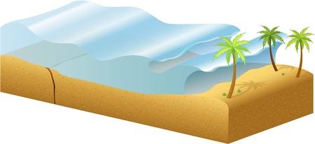 catastrophe: Sch�ma de la fa�on dont les tsunamis sont form�s Illustration