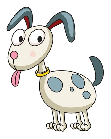 wag: Illustration of a funny dog