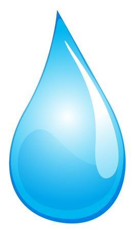 gota agua: Ilustraci�n de una gota de agua Vectores