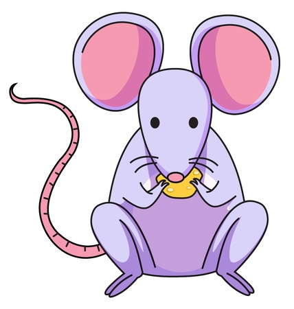 Illustration of a purple mouse Illustration