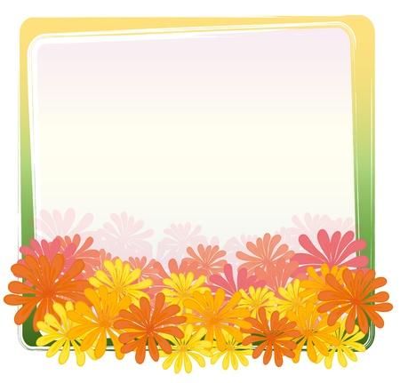 Illustration of a flower frame Stock Vector - 13593767