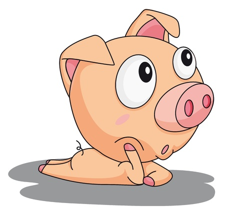Illustration of a comical pig Vector