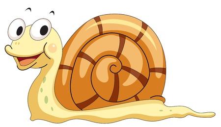 Ilustracja ślimaka uśmiechniętego Ilustracje wektorowe