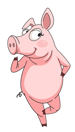 Illustration of a cheeky pig Vector