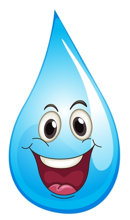Illustration of drop with happy expression