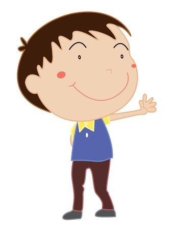 Illustration of boy standing on white Vector