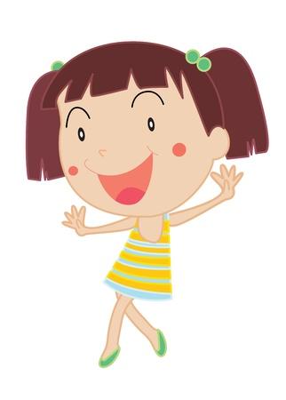 ni�os actuando: Ilustraci�n de una chica bailando