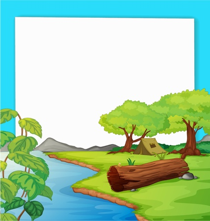 Illustration of forest on paper Vector