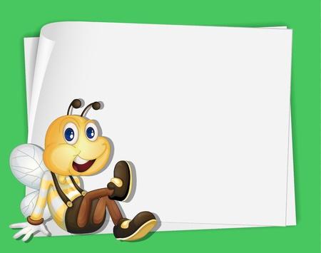 v�tements pli�s: Illustration d'une abeille sur papier