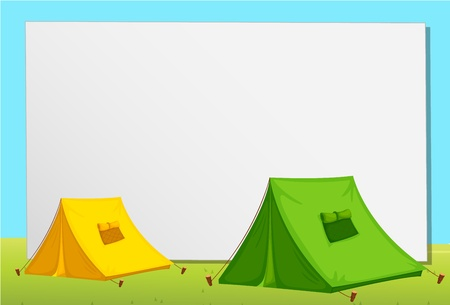 tent: White paper template with tents Illustration