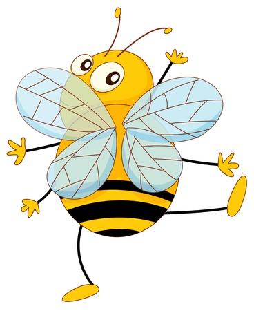 Simple cartoon of a bee