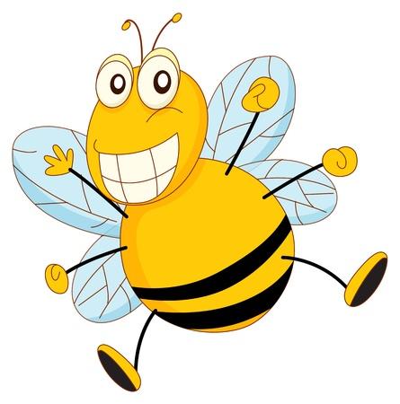 miel et abeilles: Caricature simple d'une abeille